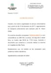 Utilidade pública - Comunicado Transporte Ambulatorial