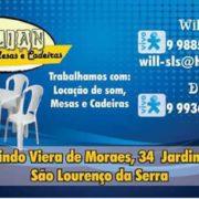 Willian Locação de Mesas, Cadeiras e Som para festas e eventos