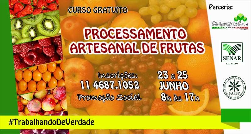 Processamento Artesanal de Frutas - Curso gratuito