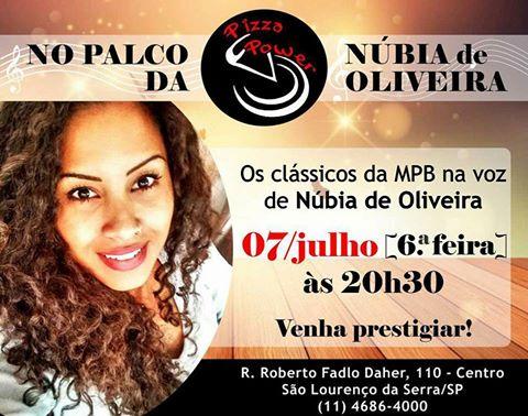 MPB com Núbia de Oliveira na Pizza Power