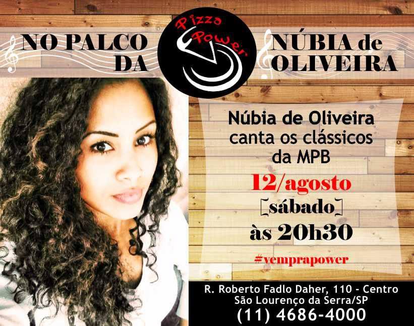 Núbia de Oliveira no Palco da Power, 12/08