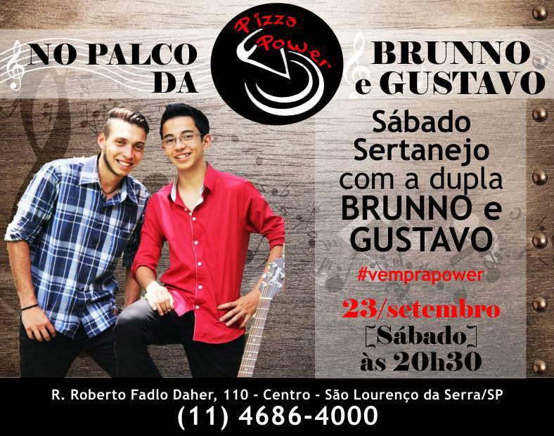 Brunno e Gustavo tocam sertanejo no Palco da Power