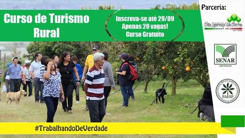 Curso de Monitoria para Turismo na Propriedade Rural gratuito