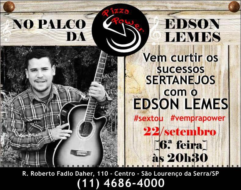 Edson Lemes no Palco da Power com sertanejo raiz