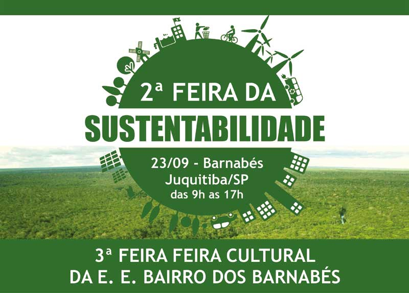 2ª Feira da Sustentabilidade e 3ª Feira Cultural em Juquitiba