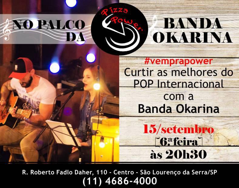 Banda Okarina toca Pop Internacional no Palco da Power