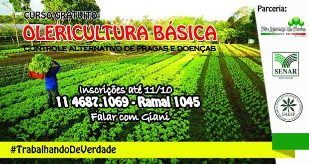 Curso de Olericultura Básica em São Lourenço da Serra