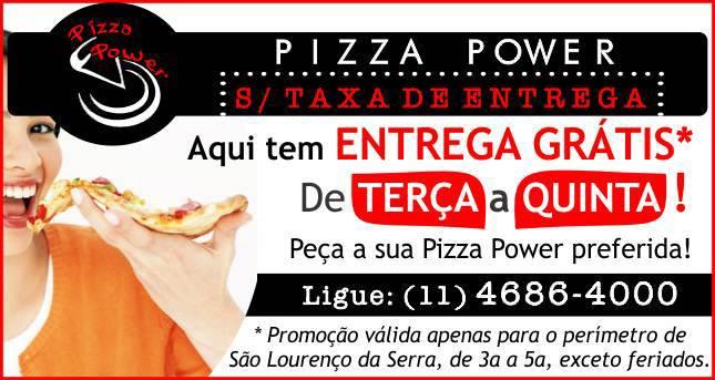 Agora tem Entrega Grátis na Pizza Power!