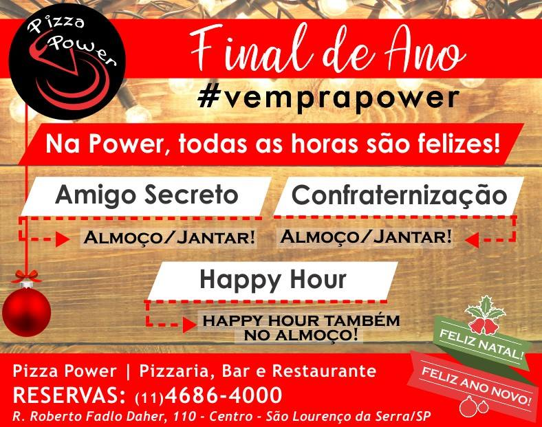 Final de ano na Power - Confraternização, Amigo Secreto ou Happy Hour