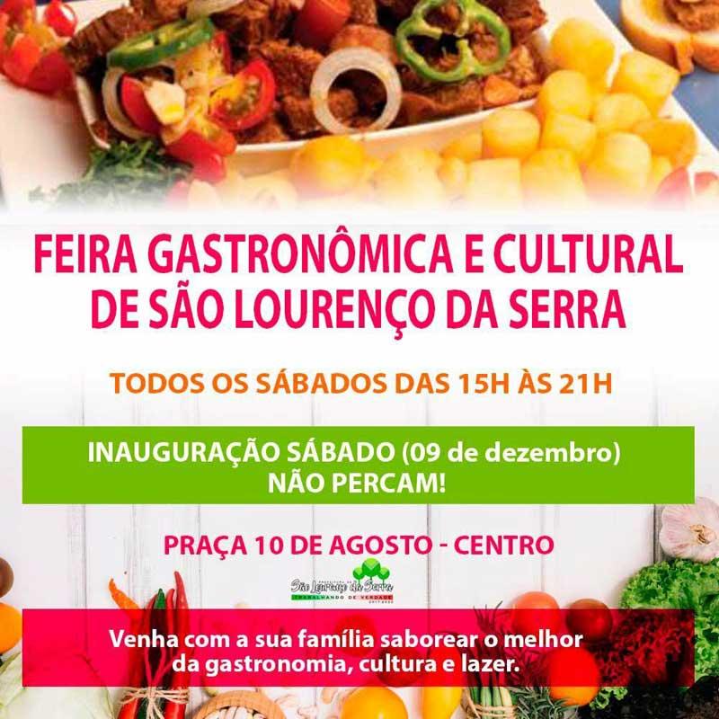 Inauguração da Feira Gastronômica e Cultural de São Lourenço da Serra