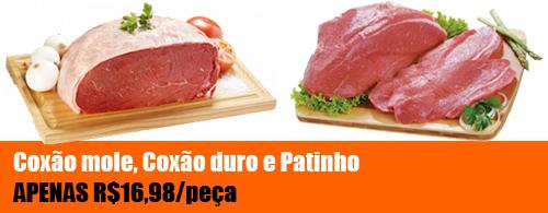 Promoção Nelore Premium - Coxão mole, Coxão duro ou Patinho por apenas R$16,98 a peça