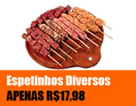 Promoção Nelore Premium - Espetinhos Diversos por APENAS R$17,98
