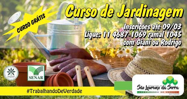 CURSO GRATUITO de Jardinagem em São Lourenço da Serra
