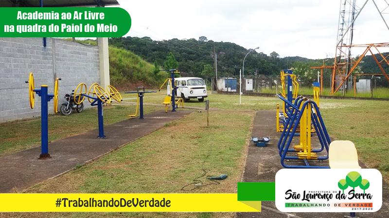 Reinstalação de Academias ao Ar Livre pela equipe de Obras de São Lourenço da Serra