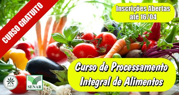 CURSO GRATUITO de Processamento Integral de Alimentos