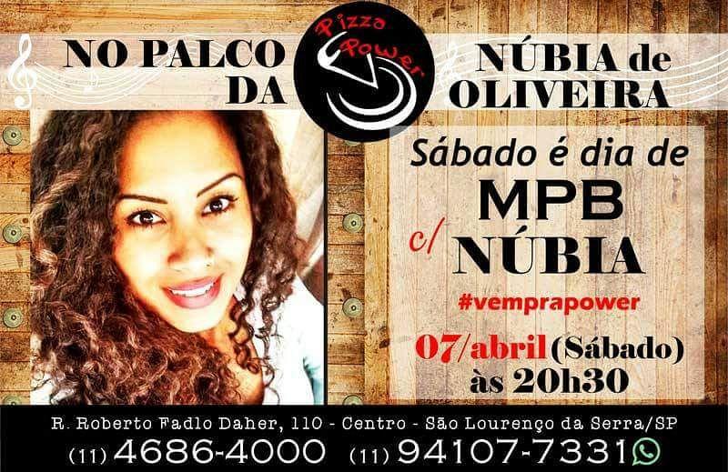 Neste sábado tem Núbia de Oliveira n'O Palco da Power