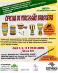 CURSO GRATUITO - Oficina de Percussão Brasileira