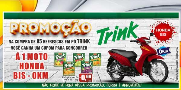 Promoção Trink dá uma Honda Biz 0km no Supermercado Bandeira