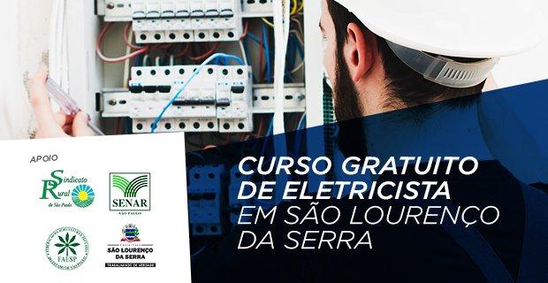 CURSO GRATUITO de Eletricista em São Lourenço da Serra