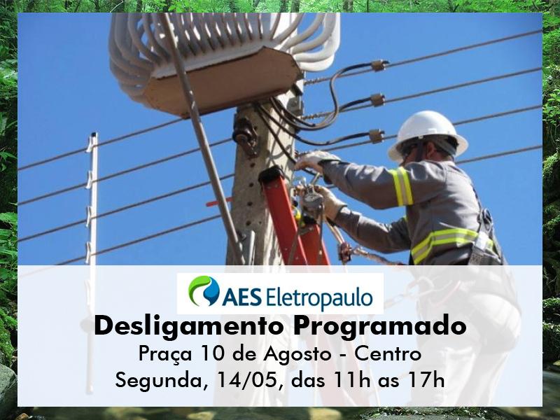 UTILIDADE PÚBLICA - Desligamento programado de energia na Praça 10 de Agosto