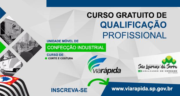 CURSO GRATUITO de Corte e Costura Industrial em São Lourenço da Serra