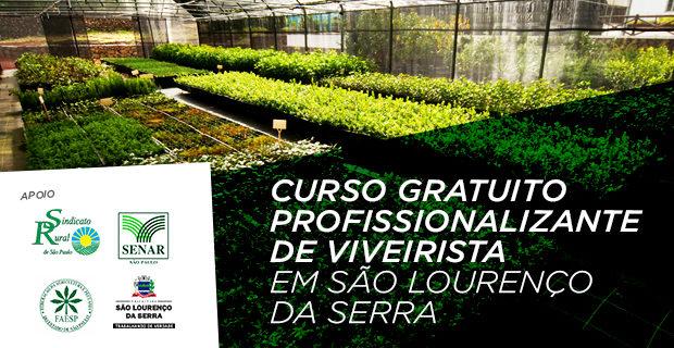 CURSO GRATUITO profissionalizante de Viveirista em São Lourenço da Serra