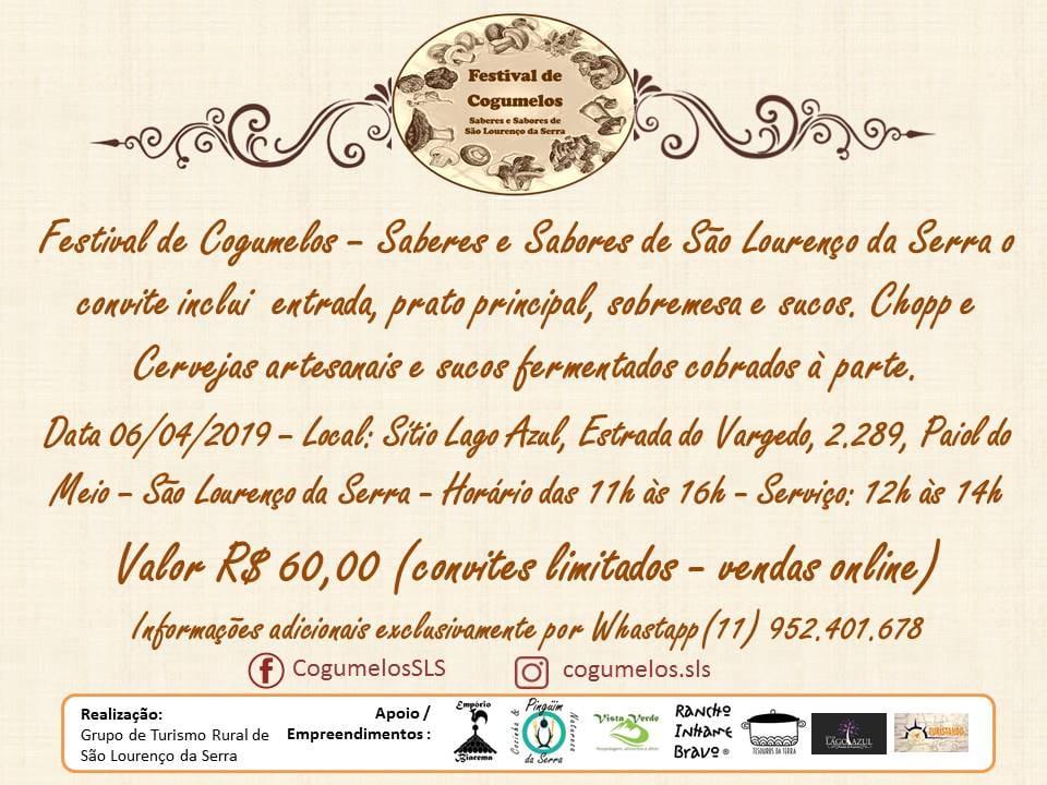 Festival de Cogumelos - Saberes e Sabores de São Lourenço da Serra