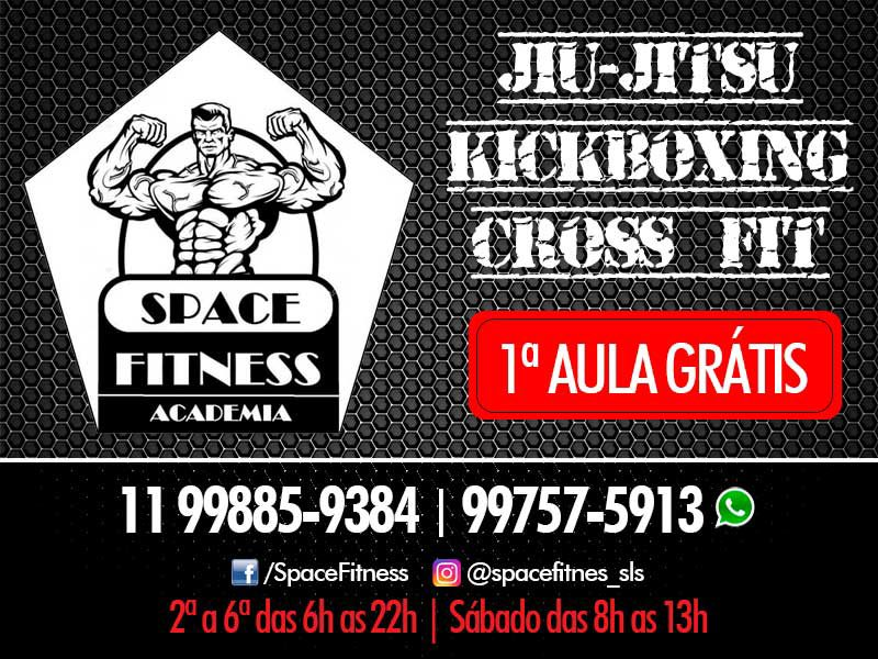 Space Fitness Academia tem Jiu-Jitsu, Kickboxing e Cross FIT