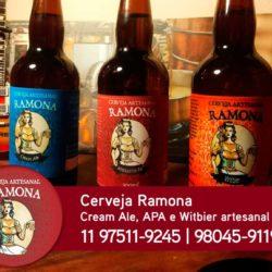 Ramona - Cerveja artesanal tipo Cream Ale, APA e Witbier
