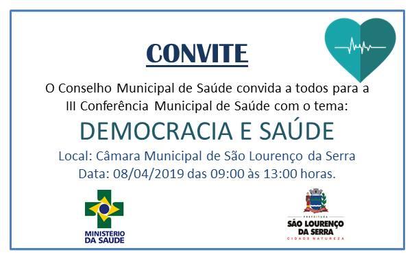 Convite - 3ª Conferência Municipal de Saúde