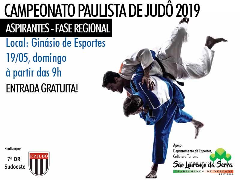 Campeonato Paulista de Judô 2019 pela primeira vez em São Lourenço da Serra