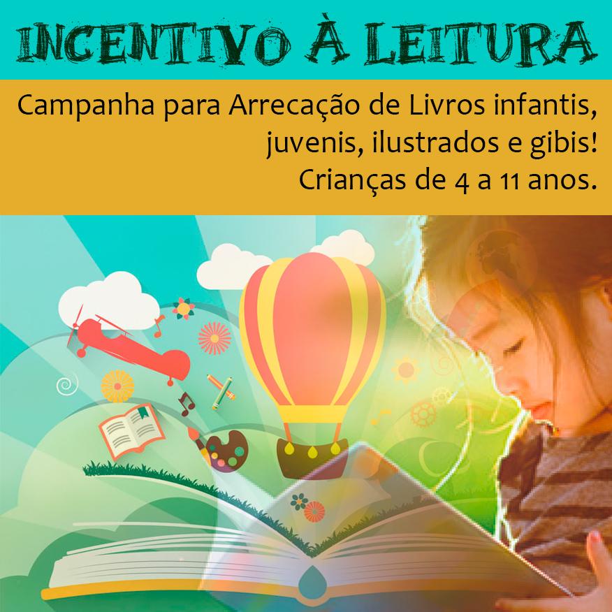 Incentivo à leitura para crianças de 4 a 11 anos em São Lourenço da Serra