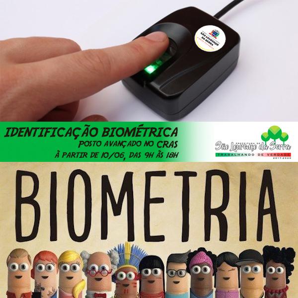 Cadastramento biométrico no CRAS em São Lourenço da Serra