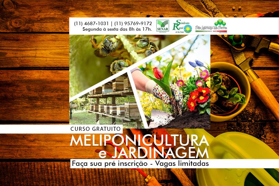 Inscrições abertas para CURSO GRATUITO de Meliponicultura e Jardinagem