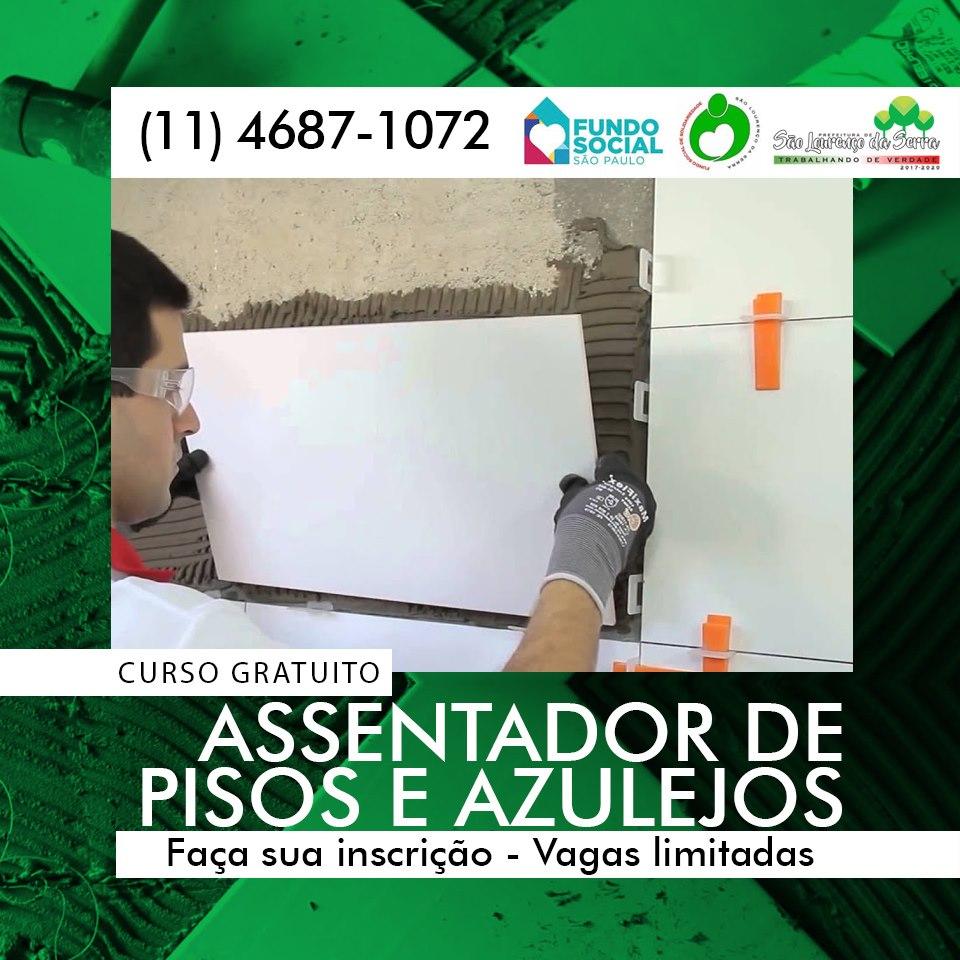 CURSO GRATUITO - Assentador de Pisos e Azulejos