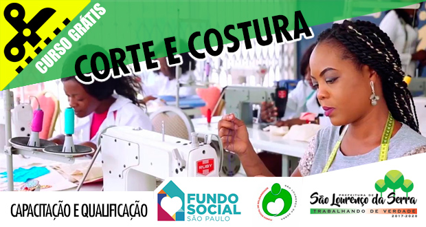O Fundo Social de Solidariedade abre inscrições para capacitação em Corte e Costura (Escola da Moda).