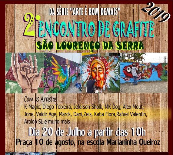 """Da série """"Arte é bom demais"""" vem aí o 2º Encontro de Grafite de São Lourenço da Serra!"""