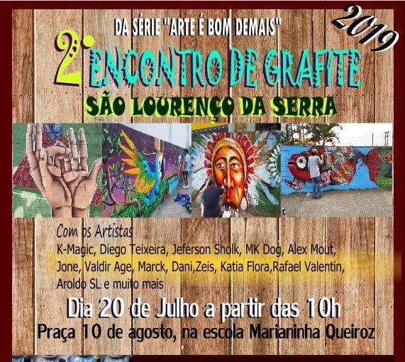 2º Encontro de Grafite em São Lourenço da Serra - Arte e Cultura