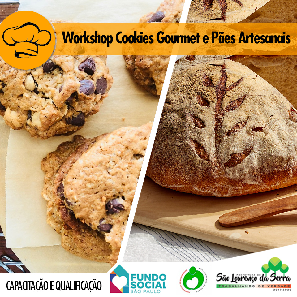 Workshop Cookies Gourmet e Pães Artesanais
