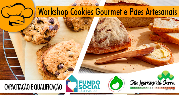 Workshop Cookies Gourmet e Pães Artesanais (10 massas)
