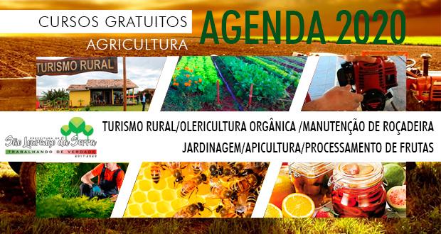 Prefeitura de SLS abre pré inscrição para Cursos da Agricultura 2020