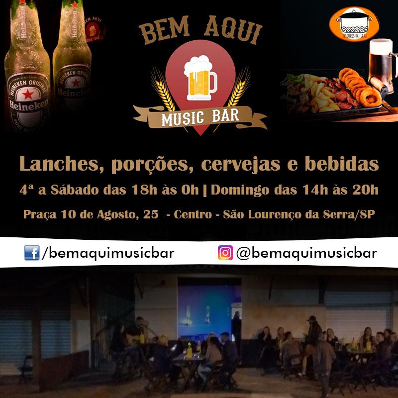 Bem Aqui Music bar - Lanches, porções, música e bebidas