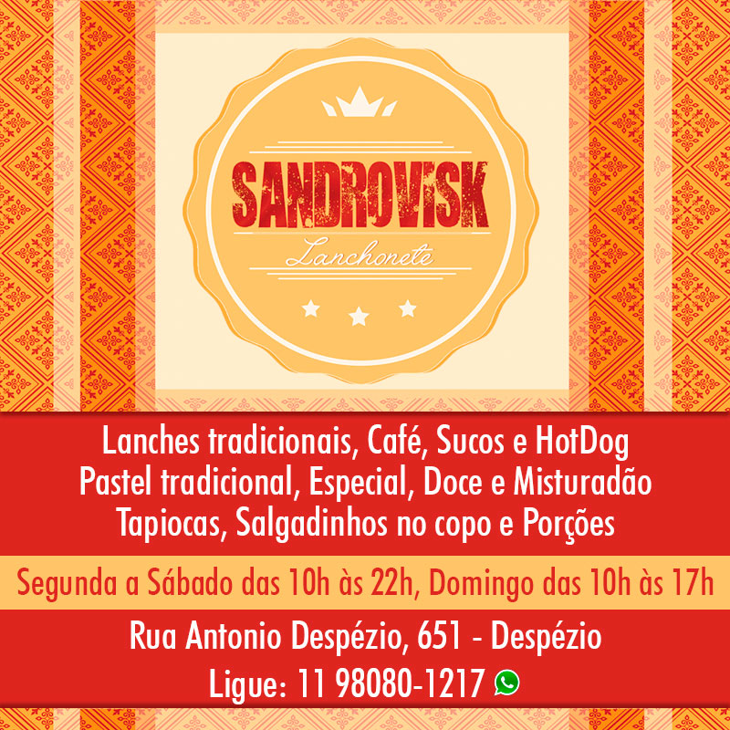 Sandrovisk Lanchonete - Lanches, pastel, salgadinhos no copo, sucos e bebidas