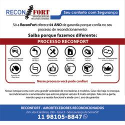 ReconFORT - Amortecedores recondicionados com 01 ano de garantia