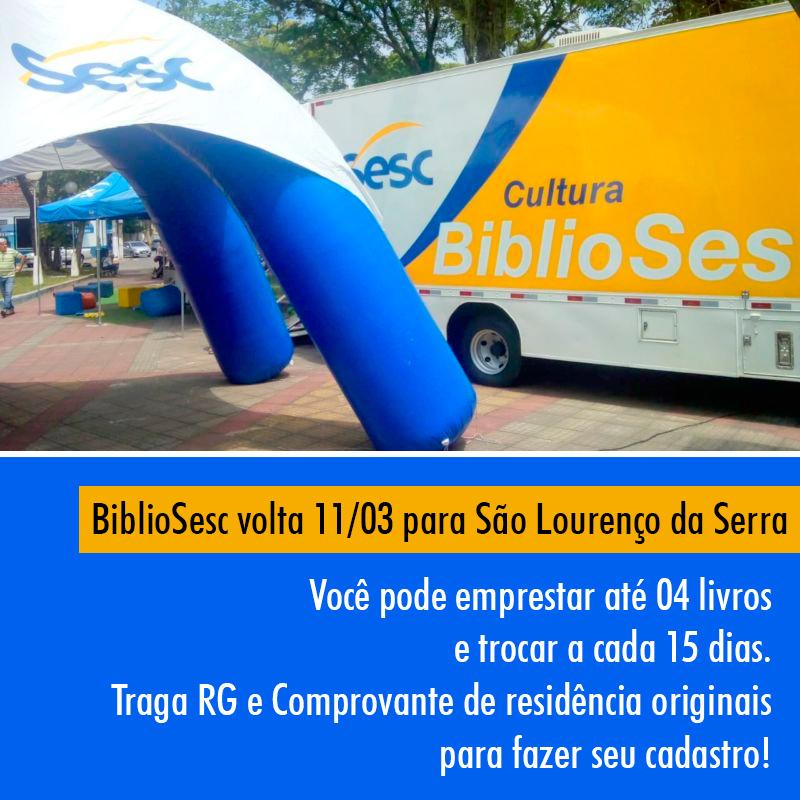 BiblioSESC volta 11/03 para São Lourenço da Serra
