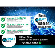 VIPNet Fiber - Internet via fibra ótica de alta qualidade
